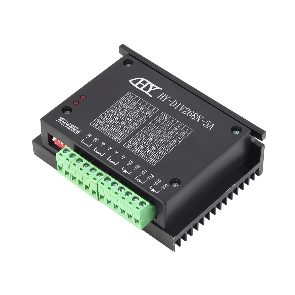 1pc TB6600 0.2-5A CNC controller driver tb6600 Single axes Two Phase Hybrid Stepper Motor Driver Controller Brand New div268n 5a new cnc single axis tb6600 0 2 5a two phase hybrid stepper motor driver controller motor accessories