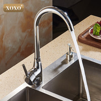 XOXOHigh Quality Total 304 Stainless Steel No Lead Kitchen Sink Faucet Sink Tap 360 Swivel Mixer