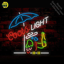 Coors luz papagaio sinal de néon tubo de luz néon lâmpada exibição artesanato anuncio luminoso icônico sinal luz néon sinal de vidro