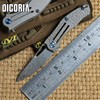 DICORIA Mini Dack Damascus Blade Folding Knife Titanium Handle Outdoor Survival Tactical Camping Hunting Knives EDC
