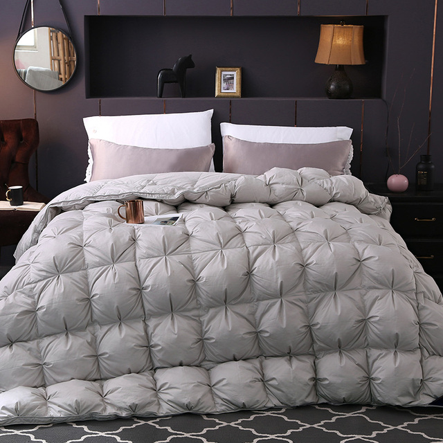 goose down comforter king New Gray color Twisted flower Goose Down comforter king queen full  goose down comforter king