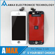 50PCS/LOT For iPhone 5 5G LCD with touch screen digitizer complete assembly Free DHL Ship In Black and White color
