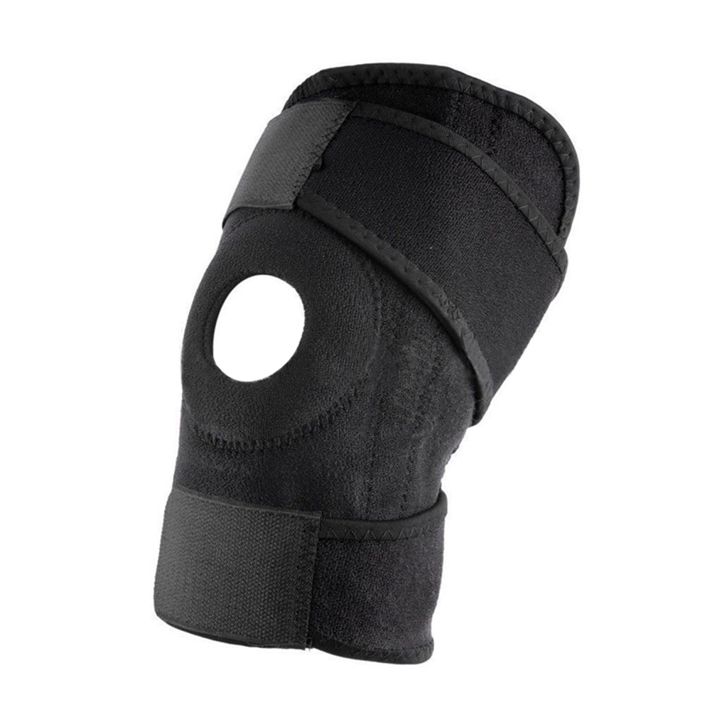 Knee Brace Support Sleeve Adjustable Open Patella Stabilizer Protector Nylon Wrap for Arthritis Meniscus Tear  Running  Sports