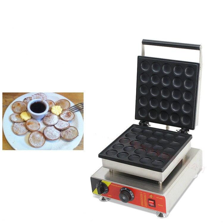 25 Holes Commercial biscuit Dutch poffertjes Grills mini pancake waffle maker baker machine 220v/110v 2017 electric 110v 220v 25 holes poffertjes grill dutch waffle maker mini pancake machine