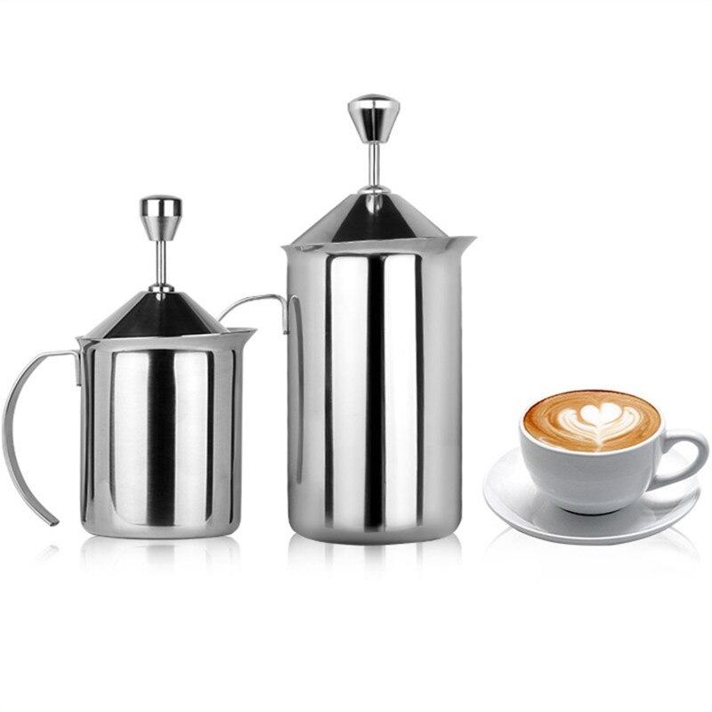 450 ml/600 ml Moderne En Acier Inoxydable 304 Café Chocolat Thé Moka Cappuccino Café Lait Bulle Café Latte Art Pot WW-MF002