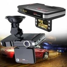 Автомобильный видеорегистратор с ЖК-дисплеем Радар лазерный детектор скорости Автомобильная Камера Английский Русский дорожный сигнал