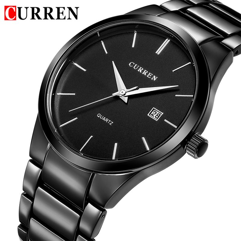 CURREN Luxury Brand Men Casual Sport Watches Mens Date Display Quartz Wristwatches Male Business Analog Clock Relogio Masculino