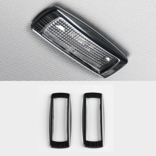 For Skoda Karoq 2017 2018 Stainless steel rear reading Lamp decoration cover Car styling Accessories