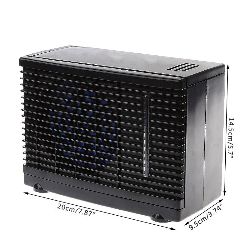 Adjustable 12V Car Air Conditioner Cooler Cooling Fan Water Ice Evaporative Hot