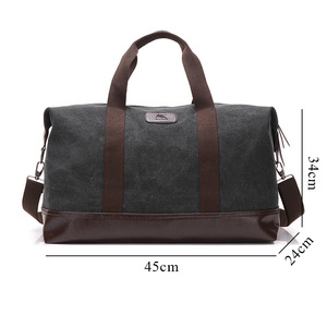 Image 2 - Vintage Canvas Bags for Men Travel Hand Luggage Bags Weekend Overnight Bags Big Outdoor Storage Bag Large Capacity Duffle Bag
