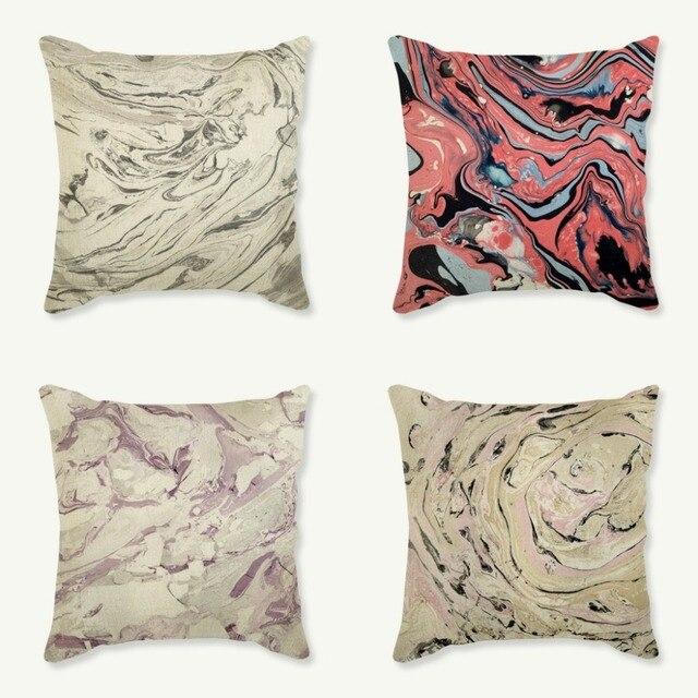 White Pink Purple Marble Stone Pattern Design Home Decoration Sofa ...