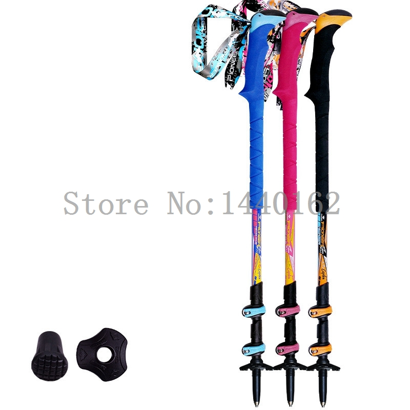 2017 carbon fiber walking <font><b>sticks</b></font> folding hiking <font><b>stick</b></font> Lightweight telescopic trekking poles Adjustable bastones trekking 2PC/LOT