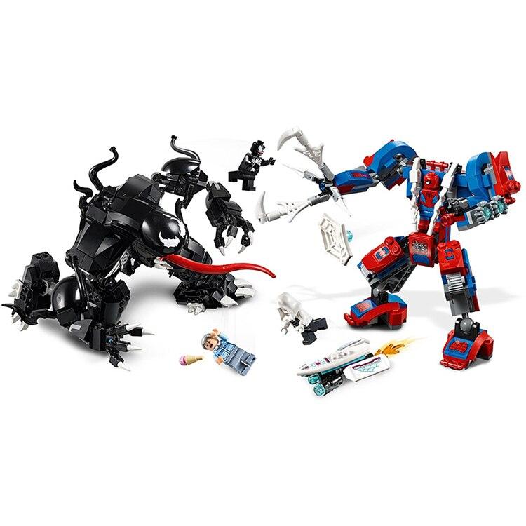 Model Building Blocks Provided 2019 Marvel Avengers:endgame Super Heroes Spider-man Mech Vs.venom Mech Building Block Bricks Juguetes Toys Compatible With Lego