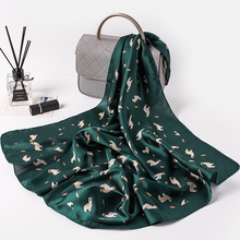 2016 Fashion Square Scarf bandana Luxury Scarve Woman Brand Scarves Long Size 100% Silk Scarf Women Shawl Print hijab