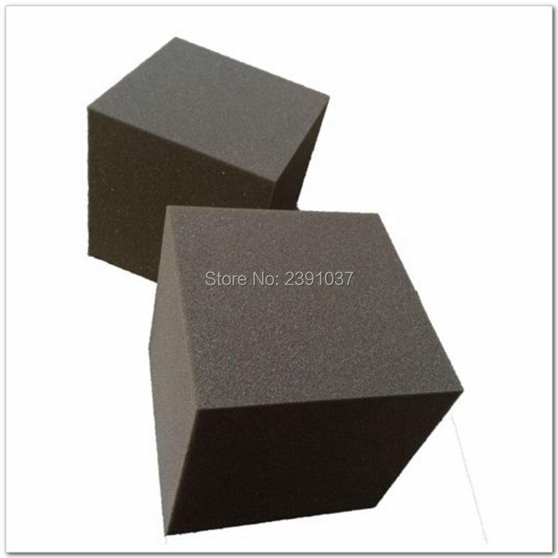 Mousse insonorisée studio 2 pièces 30*30*30 cm basse piège Cube couleur noire mousse acoustique absorbeurs acoustiques mousse spéciale pour mur