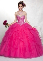 Elegant Stylish Sweetheart Organza Dresses Puffy Gowns for Qinceanera