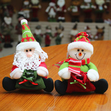 Cute Christmas Dolls Christmas Decoration For Home New Year Xmas Gift For Kids Christmas Party Supplies Home Decor DIY 2017 New