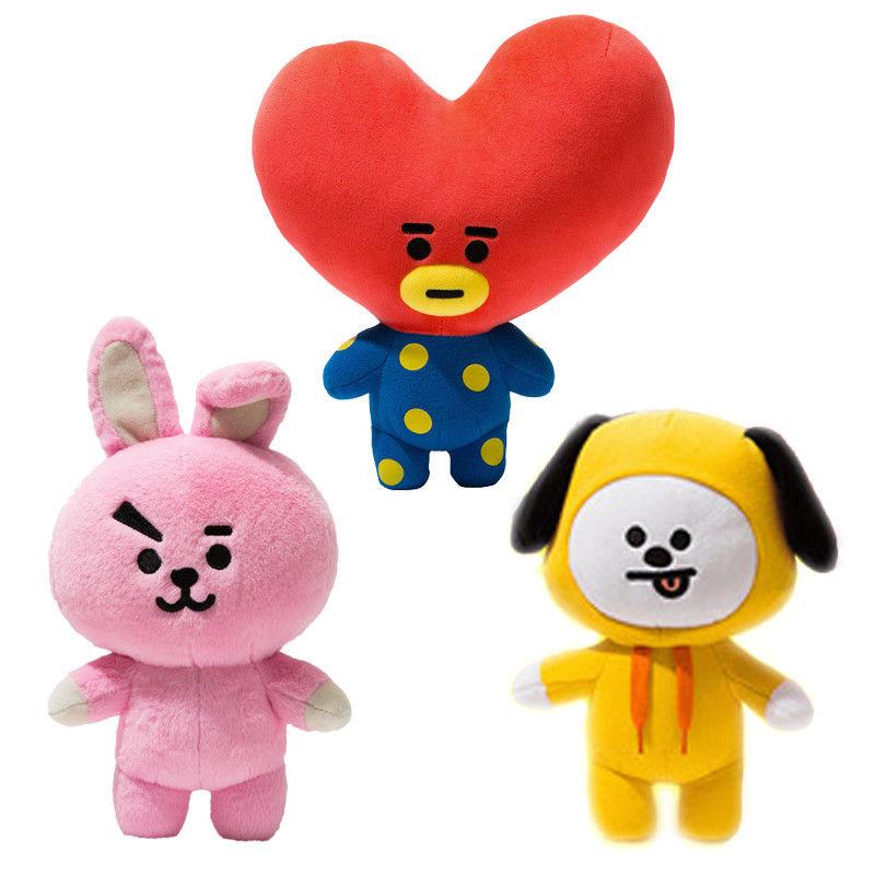 SHINEHENG STARS KPOP Korean Fashion Cute Cartoon Doll BTS BT21 Bangtan Boys Plush Toy Soft Stuffed Doll 30Cm/20cm