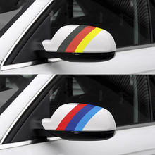 цена на Dewtreetali Car Racing Stripes Sticker Vinyl Flag Car Stickers and Decals Car Accessories For Audi BMW Volkswagen Polo Golf