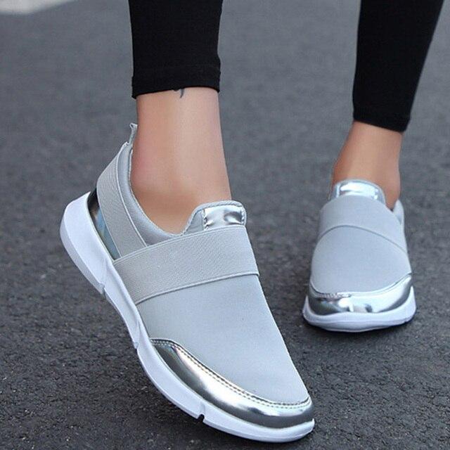 Для женщин слипоны стрейчевая ткань без каблука осенние Лоферы женские Повседневное дышащие удобные туфли женские 2019 мода плюс Размеры