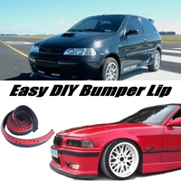Bumper Lip Deflector Lips For Fiat Siena / Albea / Petra / Pyeonghwa Hwiparam Front Spoiler Skirt For Body Kit / Strip