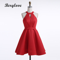 BeryLove Short Red Homecoming Dresses 2018 Cut Out Homecoming Dresses Mini Cocktail Dress Short Party Dresses Graduation Gowns