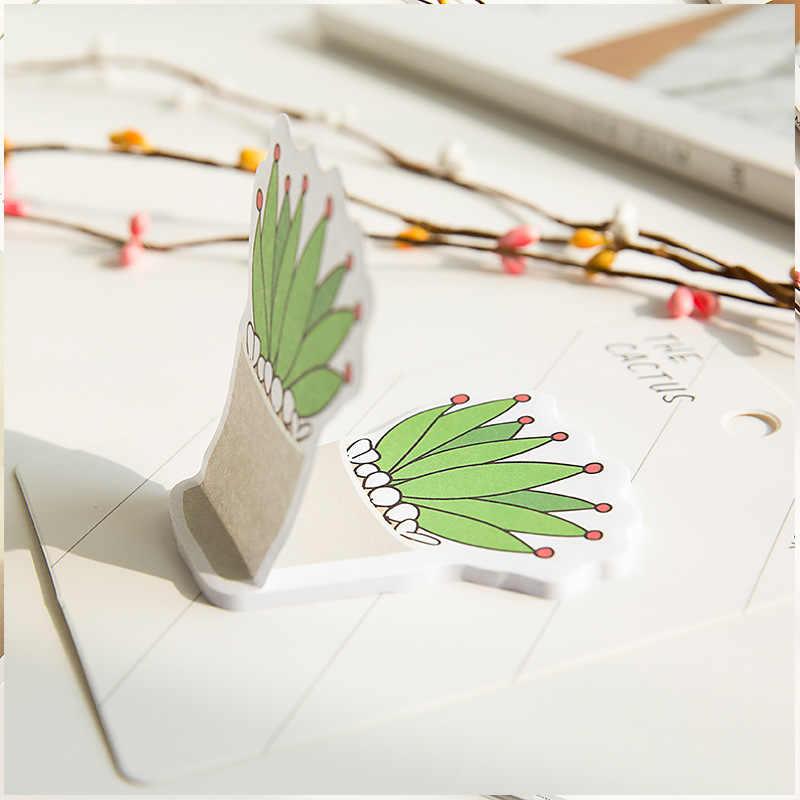 Coreano papelaria criativa cactus pegajosa notas esta etiqueta rotulado de notas de papel n vezes adesivos