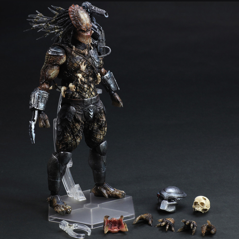 27cm Play Arts Kai Movable Figurine Alien VS. Predator PVC Action Figure Toy Doll Kids Adult Collection Model Gift 27cm play arts kai movable figurine superhero thor odinson pvc action figure toy doll kids adult collection model gift