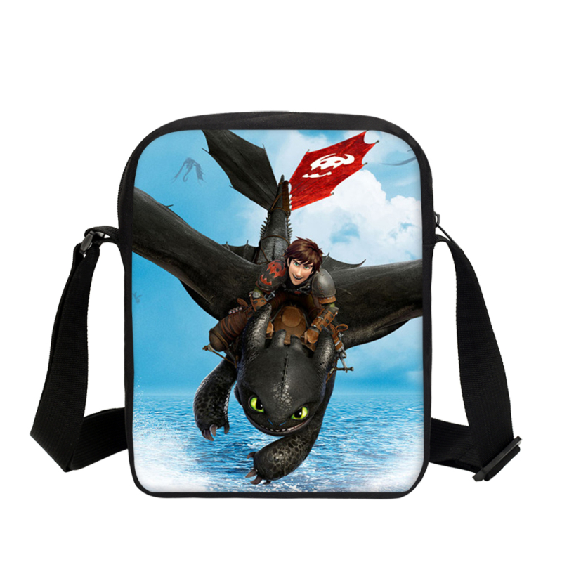 Crossbody Bags For Boys Girls How To Train Your Dragon Night Fury 3D Printing Small Shoulder Bag Casual Sling Bag Sac A Main