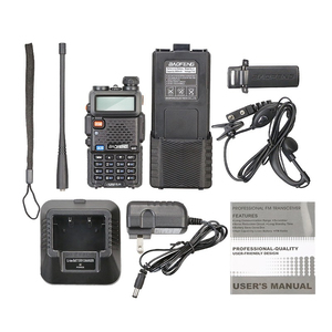 Image 5 - 2 Stuks Baofeng UV 5R 3800 Mah Long Range Walkie Talkie 10Km Dual Band Uhf En Vhf UV5R Ham Hf transceiver Draagbare Uv 5R Radio Station