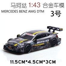 цена на 2019 new(Boxed) Mercedes-Benz DTM Racing Lahua Model Alloy Car Toy Decoration Toy 1:43 Car Model