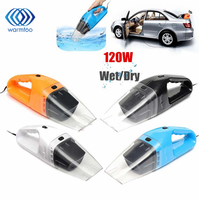 Portable DC 12V 120W Super Suction Handheld Vacuum Dirt Cleaner Wet & Dry Vacuum Cleaner For Vehicle Car Handheld Home Office dc 12v 120w portable super suction handheld vacuum dirt cleaner wet