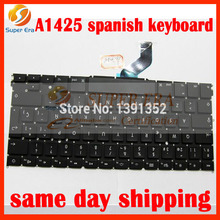 SP Spain Keyboard For Apple Macbook Retina A1425 Keyboard Spanish SP Replacement late 2012 early 2013year with screw driver