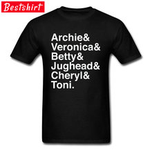 Newest Riverdale Main Characters T-Shirts Headings Letter Typography Caption Mens Great Tee Shirt Homme Camisetas Garment(China)
