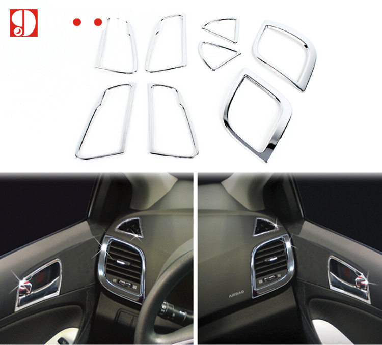 Chrome Door Handle Molding Cover Set Garnish for HYUNDAI 11-17 Accent Verna