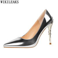 women shoes brand patent leather pumps women shoes woman high heels women bridal wedding shoes party shoes fetish high heels