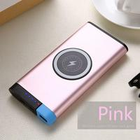 20000mAh Battery charger qi Wireless Bank External Power Phone Pack Mobile Polymer for iphone 7 8 X Note8