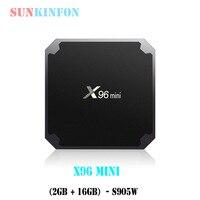 5 PCS Lot 2017 X96 Mini Android 7 1 TV Box Amlogic S905W 2GB 16GB Quad