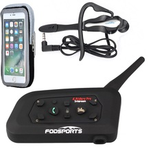 Fodsports V6 Pro Football Intercom Referee Judge Intercom Motorcycle Bluetooth Helmet Headsets Wireless Bluetooth Interphone