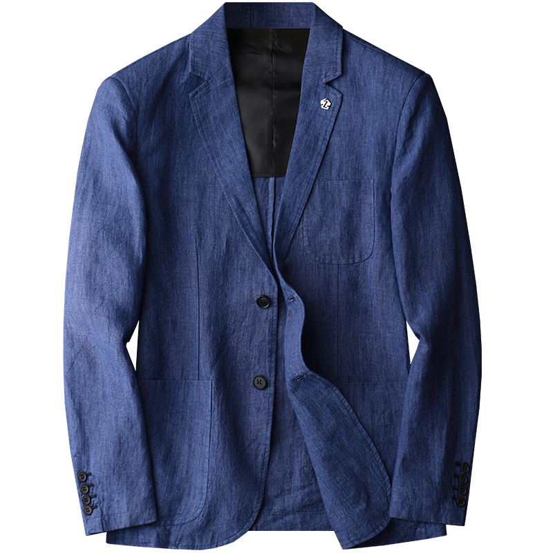 38ed0bbebd Aliexpress.com : Buy Minglu New Arrival Linen Blazer Man New Linen Suit  Jacket Spring Autumn Casual Male Single Breasted Blazer Plus Size M 4XL  from ...