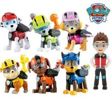 7 pçs/set Brinquedos Do Cão Pata Patrulha Pode Deformação Brinquedo Capitão Ryder Pow Psi Patrol Patrol Figuras de Ação Brinquedos para As Crianças Presentes