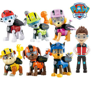 Action-Figures Toys Patrol Ryder Dog-Can-Deformation Captain Gifts Children 7pcs/Set
