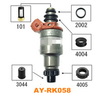 Free shipping 4 sets Fuel injector repair kit for Mazda 323 1994 matched  Mazda-Kia 1.6/1.8 195500-2040 sevince kit (AY-RK058)