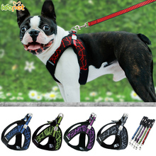 цена на Dog Pet Harness Collar Nylon Mesh Vest Harness for Big Small Dogs Puppy Harnesses vest Safety Chest Strap Leash Dogs Supplies 25