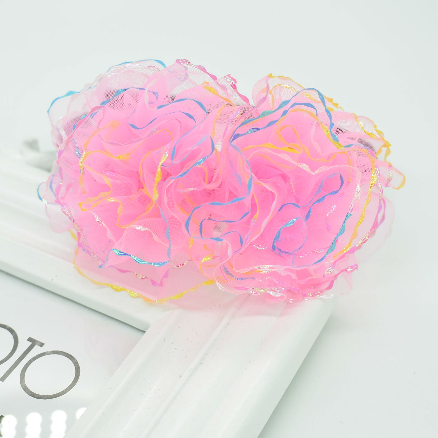 New product Children's lace headband Kids colorful transparent Flower hair accessories Wavy lace hair accessory