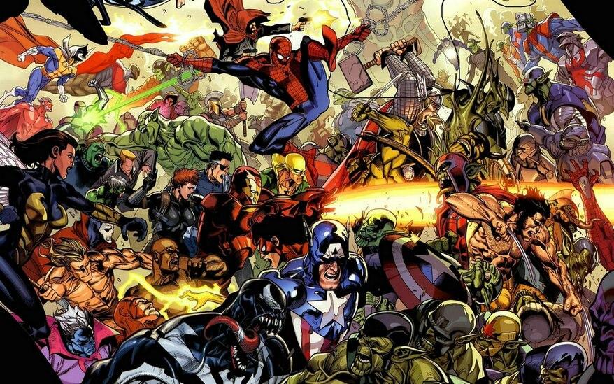 Мстители из комиксов Marvel Universe cinema супергерой Человек паук фотографии фоны компьютерная печать Вечерние