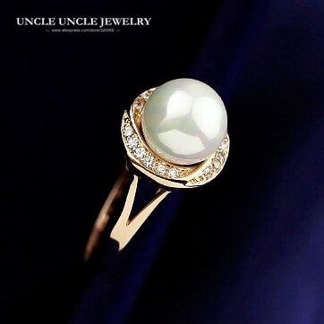 1de79fb08 ... anillo de dedo al por mayor. Cheap Color oro rosa de alta calidad  imitación perla diamantes de imitación envolvente tachonado flor bud