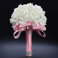 Artificial Flwers Rose Flowers DIY Wedding Bride Artificial Colourfast Foam Flower Bouquet Party Home Decoration