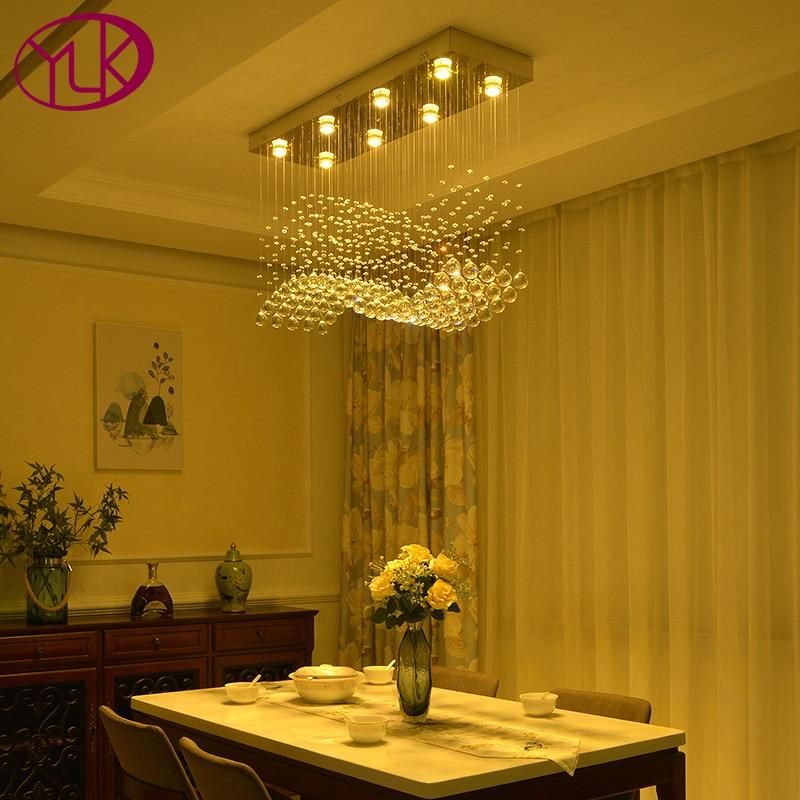 Youlaike moderno rectángulo lámpara iluminación comedor colgando de ...
