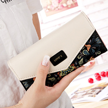 Women Wallets Leather Purse High Quality Female Clutch Large Capacity portfel ladies long cute money bag 2019 Fashion Printing